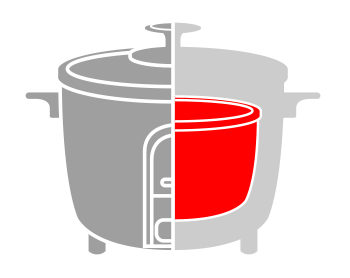 an illustration showing the inner pot of rice cookers