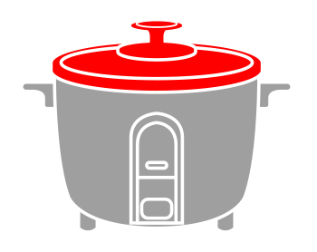 an illustration showing the lid of rice cookers