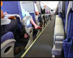 people traveling on an airplane