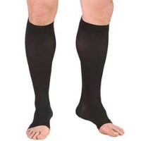 person-wearing black compression socks