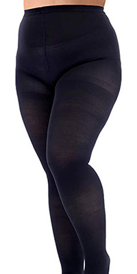 wide plus size compression pantyhose that are helpful for walking, swelling reduction, and weight management