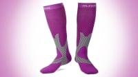 purple compression socks