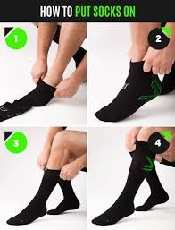 Instructions on how to put on compression socks