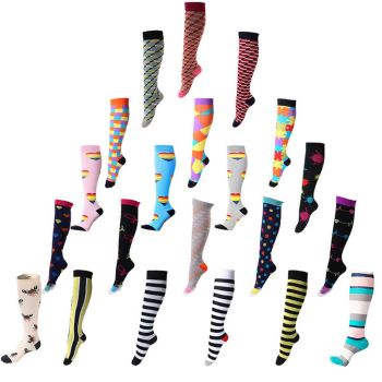 range of colored compression socks