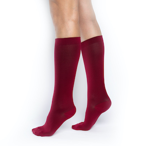 Red ComproGear Knee High Compression Socks 20 30 mmhg.