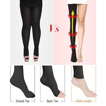 multiple configurations of compression socks