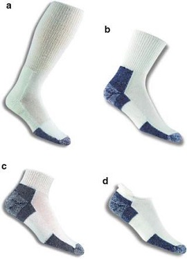 picture of socks with different length
