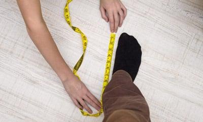 Measuring the compression socks for men