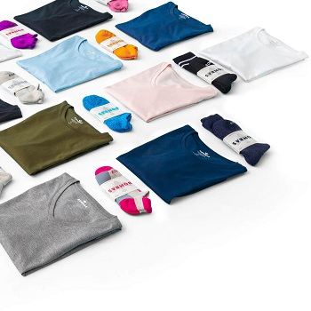 socks and garments of different materials