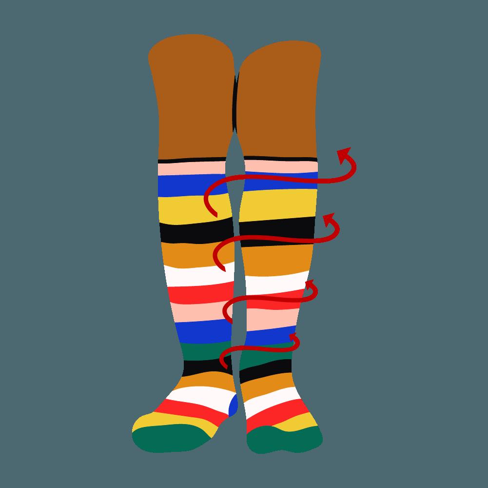 How-blood-flow-works-when-waering-the-best-compression-socks-knee-length