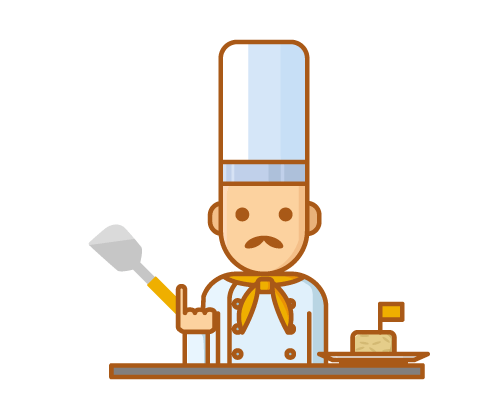 Chef with turner/spatula
