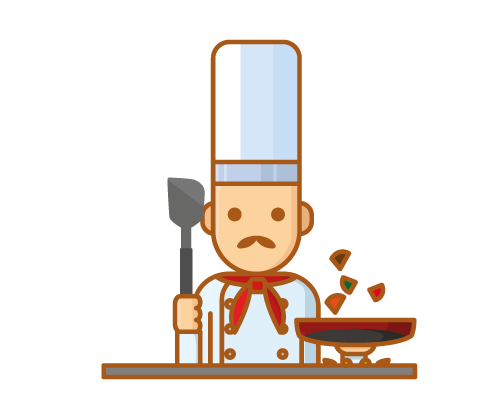 Chef with spatula