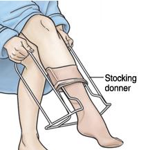 stocking donner for compression socks