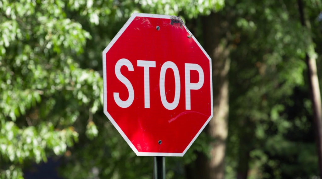 stop sign octagon