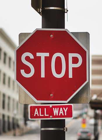 stop sign all way