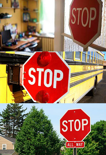 stop sign examples and sizes