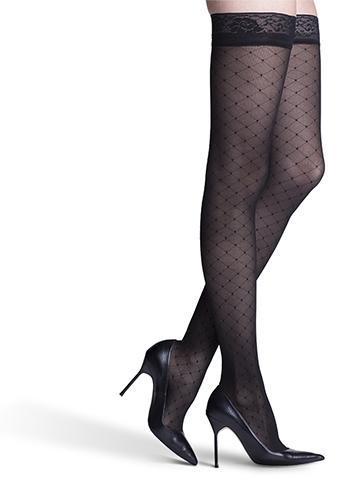 stylish thigh high womens support compression socks