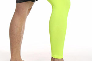 support socks help boost blood flow to heal injury to the calf and knee