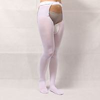 thigh-high hosiery with waist belt