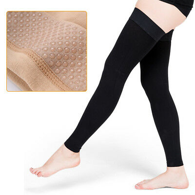 image of thigh high compression sleeves for leg