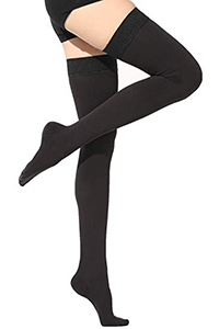 thigh high 20 - 30 mmHg support womens compression socks