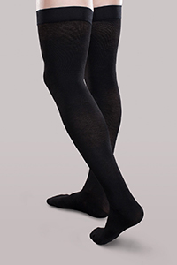 thigh length support hosiery