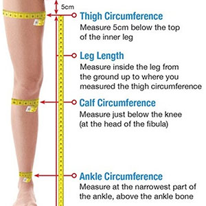thigh length measurements