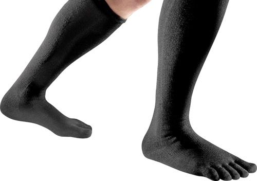 Image showing black toe socks for compression