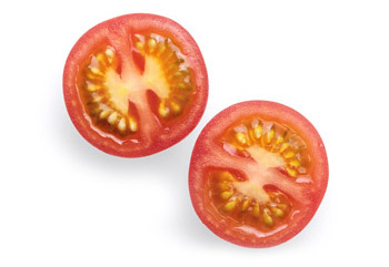 tomato and paper cutting test for knife sharpness