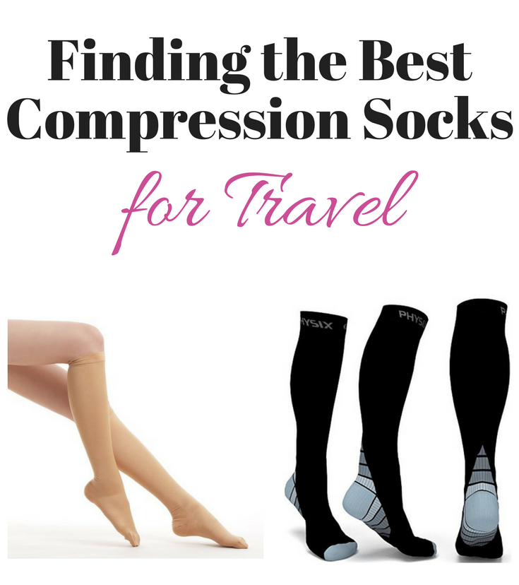 image showing the various kinds of travel compression socks