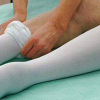 treat dvt with wide support hoses