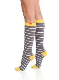 a very stylish pair of socks