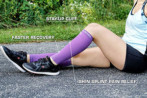 unique features of legs compression leg sleeves