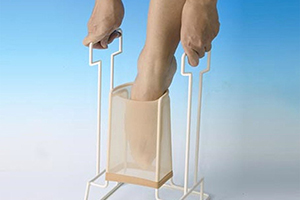 use a donning device to wear legs support hosiery