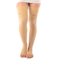 varicose veins thigh length hosiery