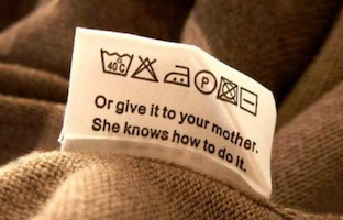 Washing Instruction Fun Fact