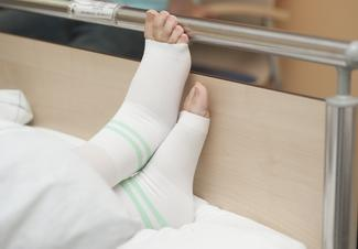 Image showing a patient wearing tedhose socks