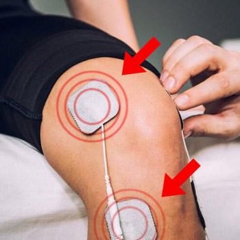 Left knee with TENS unit