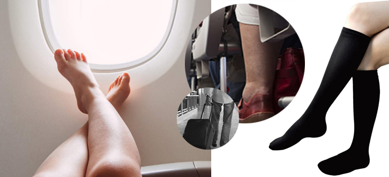 image showing blood clot during air travel and why you need compression stockings