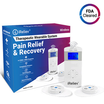 iRelieve Therapeutic Wearable System Tens unit
