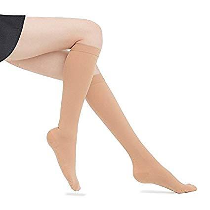 woman feet compression socks