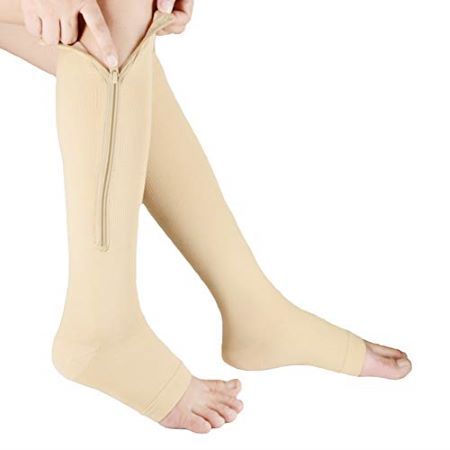 zip compression stockings