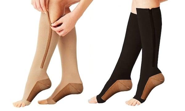 15 - 20 mmHg circulation legwear with zippers